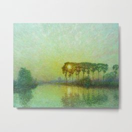 Sunset on the Lys landscape painting by Emile Claus Metal Print