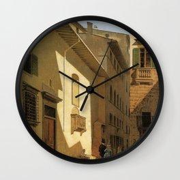 Santa Maria De Bardi 1870 By Telemaco Signorini | Reproduction | Italian Painter Wall Clock