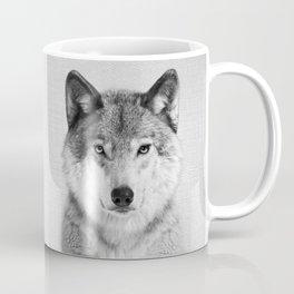 Wolf 2 - Black & White Coffee Mug