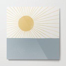 Sun and Sea  Metal Print