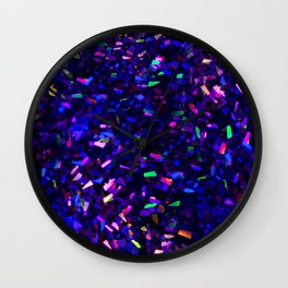 Fascination in blue- photograph of colorful lights Wall Clock