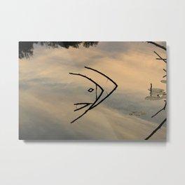 Fish and Sticks Metal Print