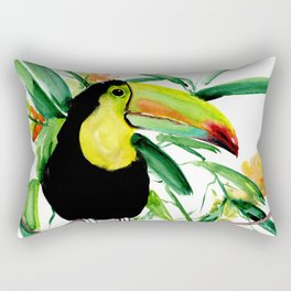 Toucan, Tropical Art, tropics Rectangular Pillow