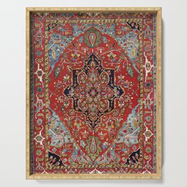 Heriz  Antique Persian Rug Print Serving Tray