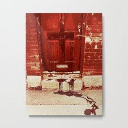 Bloody Cross Door Metal Print