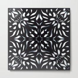 Icy Flames Fiery Mandala Flower - Trippy Geometric Boho Art Metal Print