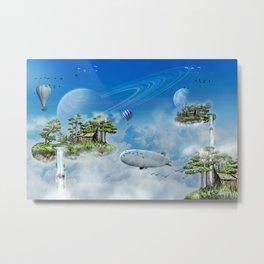 Floating Islands Fantasy World Metal Print