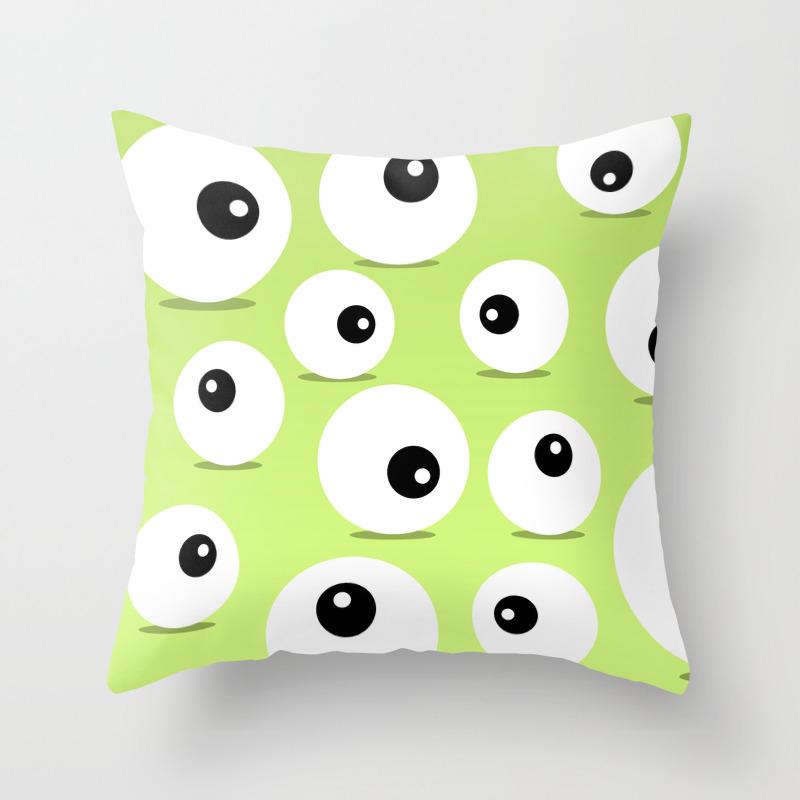 Eyeballs For Halloween Throw Pillow by Rosequeen PLW7792704