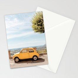 Yellow Italian car Stationery Cards
