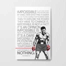 Ali 'The Champ' Boxing Metal Print