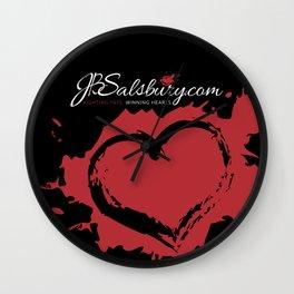 JB Salsbury Blood Heart Wall Clock