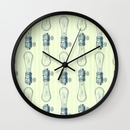 Vintage Light Bulbs Neck Gator Hand Drawn Light Bulb Wall Clock