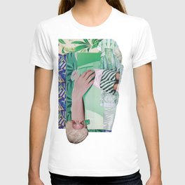 Wanda Goes on Vacation - green modern collage T-shirt