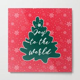 Christmas Joy to the World Metal Print