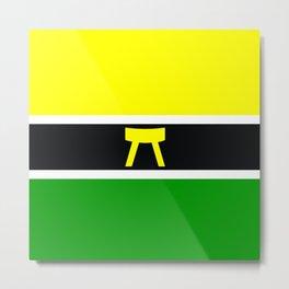 Akan africa people ethnic flag Metal Print