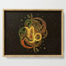 Capricorn Zodiac Sign Earth element Serving Tray