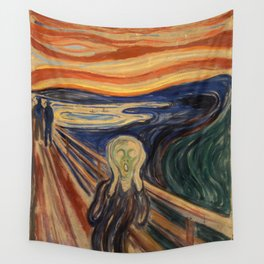 The Scream by Edvard Munch Wall Tapestry