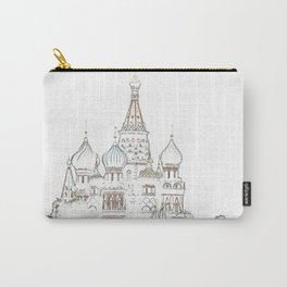 Saint Basil's Cathedral (on white) Carry-All Pouch