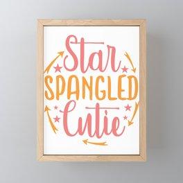 star spangled cutie - Adventure Design Framed Mini Art Print