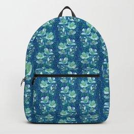 Jasmine Bloom Vintage Floral Pattern Green Blue Backpack