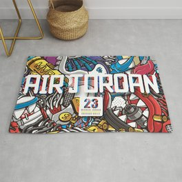 Jordan Sneaker Pattern illustration Rug