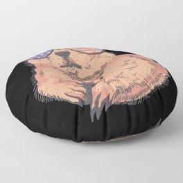 Patriotic US Prairie Dog with US banner sunglasses Floor Pillow