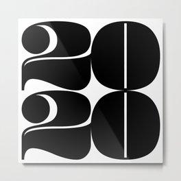 2020 Year | Typography | Square Metal Print