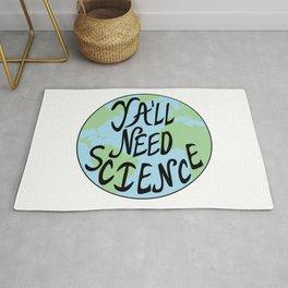 Ya'll Need Science Earth Hand Drawn Rug