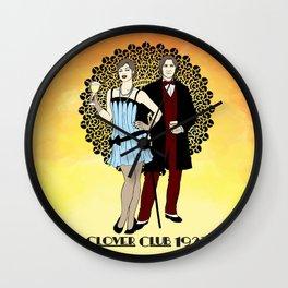 Clover Club - 1920s Wall Clock