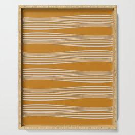 Wavy Stripes // Goldenrod Serving Tray