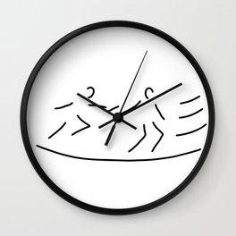 relay race athletics stick Wall Clock