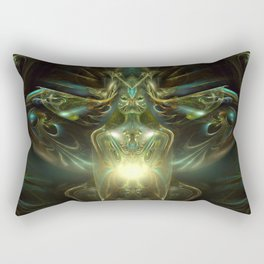 Hybrid Theory - Fractal - Visionary Art - Alien - Shaman Rectangular Pillow