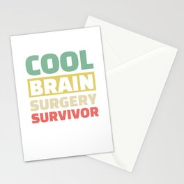 Cool Brain Surgery Survivor Neurosurgery For Patients Stationery Cards