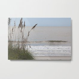 Sea Oats at the Ocean Metal Print