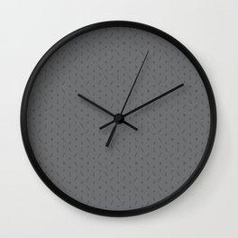 Claymore 7 Pattern - Medium Grey Wall Clock