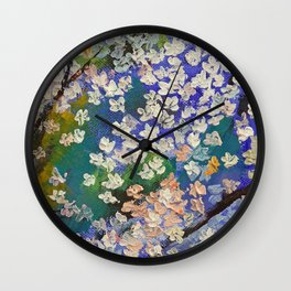 Sakura Oil Painting Wall Clock
