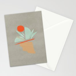 Abstract natural ice cream Stationery Cards