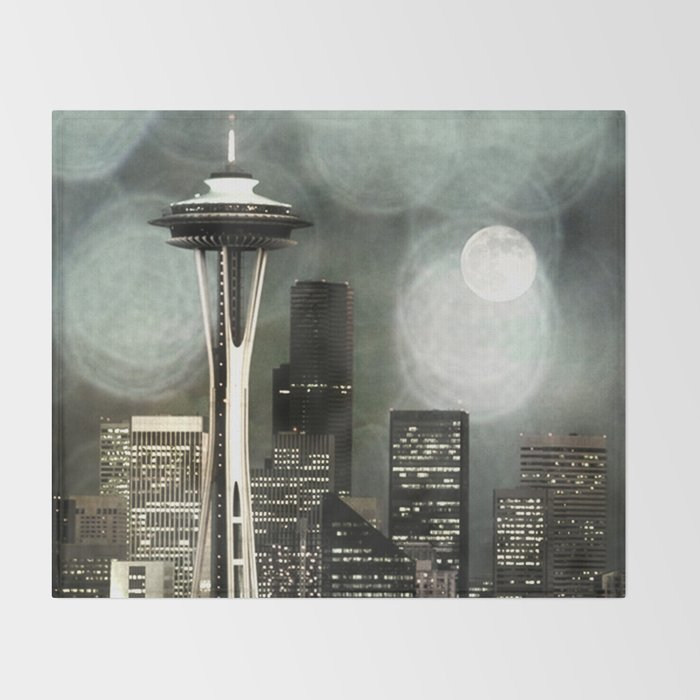 Fifty Shades of Grey Space Needle Throw Blanket by Christine aka stine1