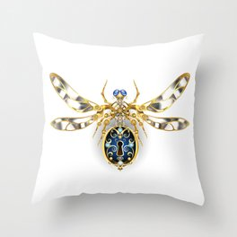 Mechanical Insect ( Steampunk ) Throw Pillow