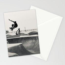 Skateboarding Print Venice Beach Skate Park LA Stationery Cards
