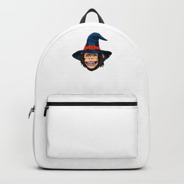Witch Monkey, It's Show Time Funny Halloween Horror Scary Backpack