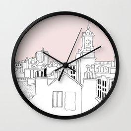 Rooftops - Brussels Marolles Quarter Wall Clock