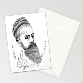 Annie Jones the Bearded Lady Stationery Cards