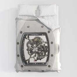 Richard Mille Mens RM 055 Canvas White Dial B.Luvid Comforters