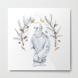 Grandfather Metal Print