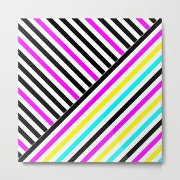 Stripes and Colors Metal Print