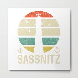 Sassnitz  Beacon Vacation TShirt North Sea Shirt Nordsee Gift Idea  Metal Print