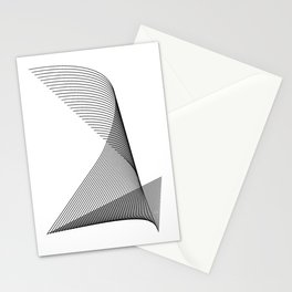 """""""Linear Collection"""" - Minimal Number Two Print Stationery Cards"""