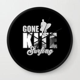Kitesurfing, Kitesurfing Kite, Kiteboarding Wall Clock