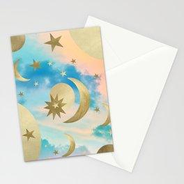 Pastel Starry Sky Moon Dream #3 #decor #art #society6 Stationery Cards